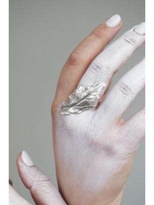 """Srebrny pierścionek """"Panna liść"""""""