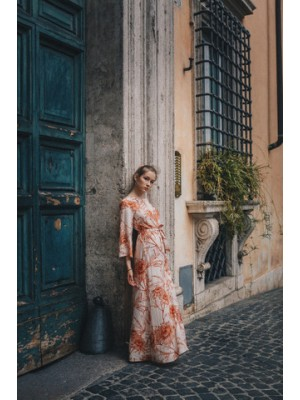 sukienka FIORI z lnu i wiskozy EcoVero