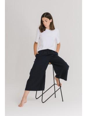 Lniane spodnie CULOTTES