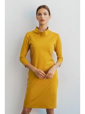 Sukienka Lusa musztardowa