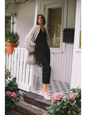 Spodnie Sybil czarne - bawełna organiczna