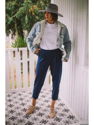 Spodnie Sybil granatowe - bawełna organiczna