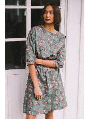 Sukienka BEA zielona kwiaty
