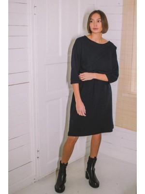 Sukienka bea czarna dzianina