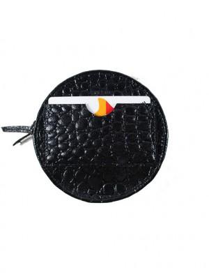 Portfel Okrągły Blackissimo Crocodile