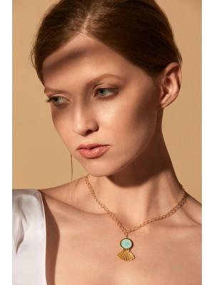 Naszyjnik Brindo Crystal Blue / gold