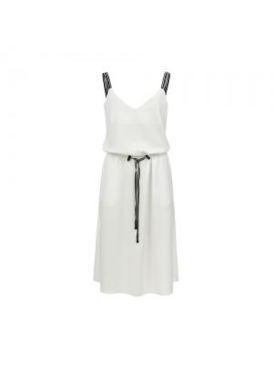 sukienka na ramiączkach/ biała