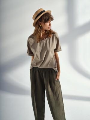 Spodnie Linen Deep Green