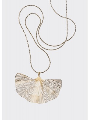 GINGKO MICRO NECKLACE GOLD