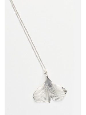 GINGKO LITTLE NECKLACE SILVER