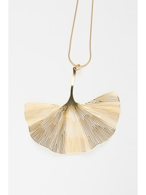 GINGKO NECKLACE GOLD
