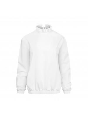bluzka z falbanką white