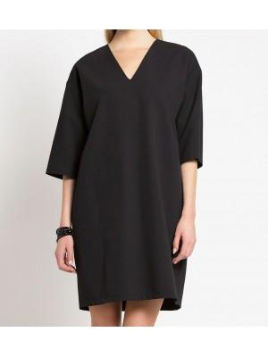 luźna sukienka z wiskozy