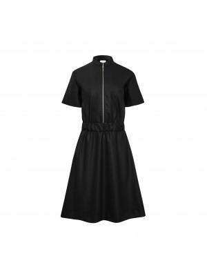 sukienka z metalowym suwakiem black
