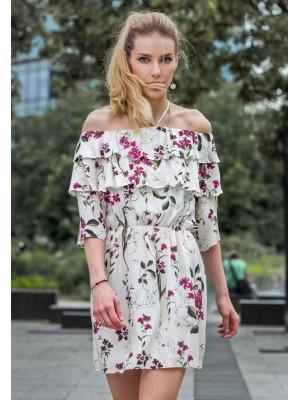 VIGO SUMMER SHORT DRESS WHITE