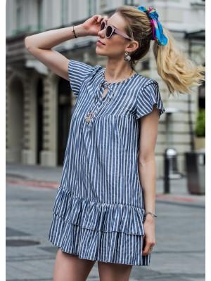 INAGUA BLUE STRIPES SUMMER DRESS