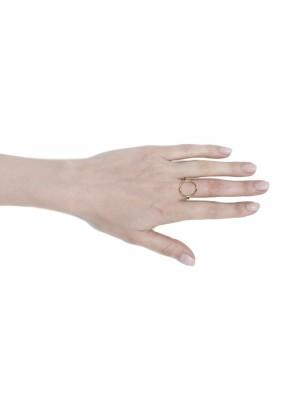 "pozłacany pierścionek ""loop"""