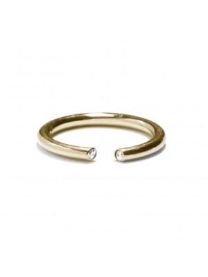pozłacany pierścionek z cyrkoniami