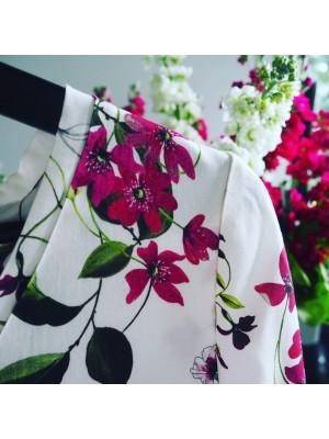 BOA VISTA biała sukienka w kwiaty