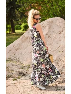 MOMMY długa kolorowa sukienka na lato